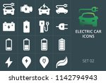 electric car icons set of solid ... | Shutterstock .eps vector #1142794943