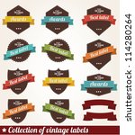collection of vintage labels... | Shutterstock .eps vector #114280264