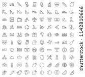 set of vector outline icon ... | Shutterstock .eps vector #1142810666