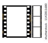 film strip   frame of retro... | Shutterstock .eps vector #1142811680