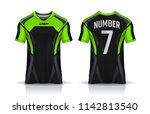 t shirt sport design template ... | Shutterstock .eps vector #1142813540