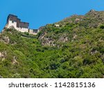 monastery buildings on mount... | Shutterstock . vector #1142815136