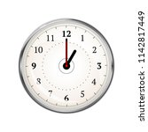 realistic clock face showing 01 ... | Shutterstock .eps vector #1142817449