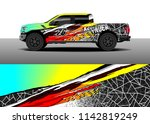 truck and vehicle graphic decal ...   Shutterstock .eps vector #1142819249