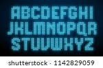 digital lights alphabet. vector ... | Shutterstock .eps vector #1142829059