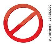 not allowed sign | Shutterstock . vector #114283210