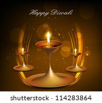 shiny bright colorful diwali... | Shutterstock .eps vector #114283864