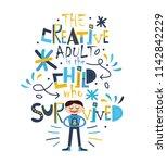 funny slogan for t shirt print. | Shutterstock .eps vector #1142842229