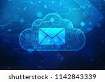 information cloud spam  email... | Shutterstock . vector #1142843339