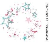 round frame or border christmas ... | Shutterstock .eps vector #1142846783
