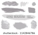 paint lines grunge collection.... | Shutterstock .eps vector #1142846786