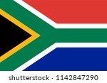 south africa flag | Shutterstock .eps vector #1142847290