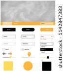 light yellow vector ui kit with ...