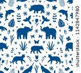 wild animals  endangered... | Shutterstock .eps vector #1142847980