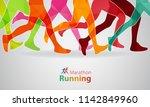 running marathon. vector... | Shutterstock .eps vector #1142849960