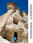 Cappadocia Cave House And Blue...