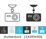dvr black linear and silhouette ... | Shutterstock .eps vector #1142856506