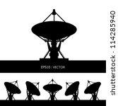 silhouette satellite dish... | Shutterstock .eps vector #114285940