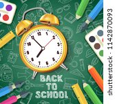 back to school vector... | Shutterstock .eps vector #1142870093