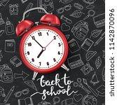 back to school vector... | Shutterstock .eps vector #1142870096