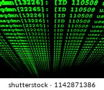 Small photo of The Unix command on black screen with green text while program is executing big data