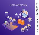 3d infographic business data... | Shutterstock .eps vector #1142880326