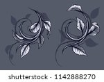 graphic detailed black and... | Shutterstock .eps vector #1142888270