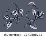 graphic detailed black and... | Shutterstock .eps vector #1142888273