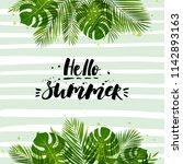 vector illustration with palm... | Shutterstock .eps vector #1142893163