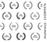 black and white film award... | Shutterstock .eps vector #1142895476