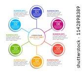 infographic design template... | Shutterstock .eps vector #1142898389