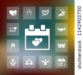 vector set of love icons.... | Shutterstock .eps vector #1142903750