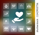 vector set of love icons.... | Shutterstock .eps vector #1142903756