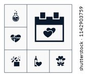 vector set of love icons.... | Shutterstock .eps vector #1142903759