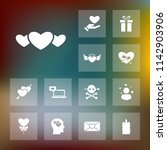 vector set of love icons.... | Shutterstock .eps vector #1142903906