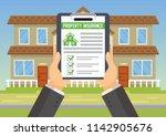 house insurance business... | Shutterstock .eps vector #1142905676