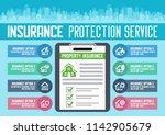 house insurance business... | Shutterstock .eps vector #1142905679