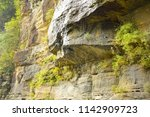 water dripping above the... | Shutterstock . vector #1142909723