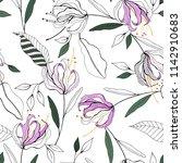 blooming  flowers. realistic... | Shutterstock .eps vector #1142910683