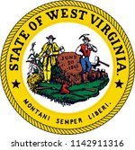 west virginia state flag seal... | Shutterstock .eps vector #1142911316