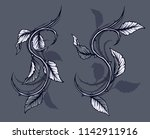 graphic detailed black and... | Shutterstock .eps vector #1142911916