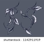 graphic detailed black and... | Shutterstock .eps vector #1142911919