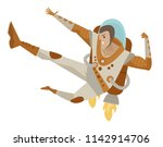 spacesuit kicking hero | Shutterstock .eps vector #1142914706