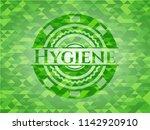 hygiene green emblem. mosaic... | Shutterstock .eps vector #1142920910