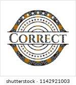 correct arabic badge background.... | Shutterstock .eps vector #1142921003