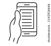 smartphone in hand icon....