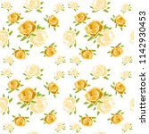 flowers pattern seamless | Shutterstock .eps vector #1142930453