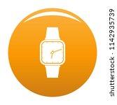 wristwatch retro icon. simple...   Shutterstock . vector #1142935739