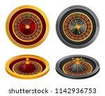 roulette wheel fortune spin... | Shutterstock . vector #1142936753