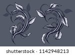 graphic detailed black and... | Shutterstock .eps vector #1142948213